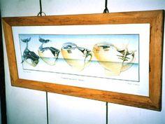 腐朽菌の跡が模様を感じさせるブナ材の額。(2007.05) 制作年は不詳です。