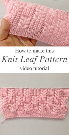 Knit Leaf Pattern You Could Learn Easily – Crochet Free Pattern - Agli - Stric. Knit Leaf Pattern You Could Learn Easily – Crochet Free Pattern - Agli - Stricken ist so einfach wie 3 Das Stricken läuft auf drei wesentliche F. Baby Knitting Patterns, Knitting Terms, Knitting Stiches, Easy Knitting, Knitting For Beginners, Knitting Projects, Crochet Stitches, Crochet Patterns, Knitting Ideas