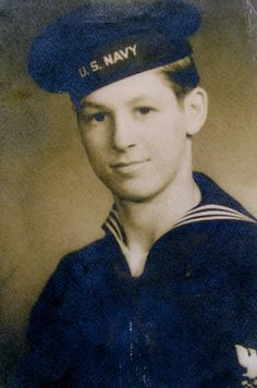 This was Seaman Bernie Strapp of North Port, Fla. when he was 17-year-old sailor serving in the Navy during World War II. (Photo provided.)