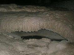Cueva de los Cristinos. Detalle de formación cálcica. (Foto de ...