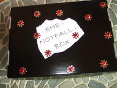 Kreatives von Melersmeli: Ehe- Notfall- Box