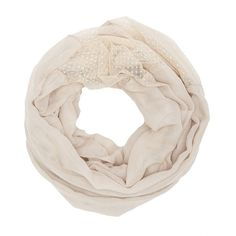 Charlotte Russe Swiss Dot Trim Infinity Scarf (7.00 CAD) ❤ liked on Polyvore featuring accessories, scarves, ivory, round scarf, tube scarves, charlotte russe scarves, polka dot infinity scarf and infinity loop scarves