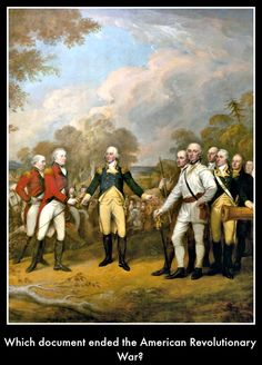 The Treaty of Paris  To preview our children's history DVD click on pin