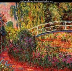 Water Lily Pond Water Irises by Claude Monet (1900)