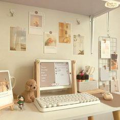 Study Room Decor, Room Ideas Bedroom, Bedroom Decor, Desk Inspiration, Desk Inspo, Pastel Room, Indie Room, Minimalist Room, Aesthetic Room Decor
