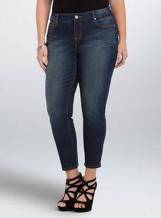 Plus Size Torrid Girlfriend Jeans - Medium Wash, SAINT BARTS