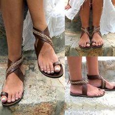 dd3e151173221d Bohemian Flat Ankle Strap Peep Toe Beach Casual Gladiator Sandals Anziehen
