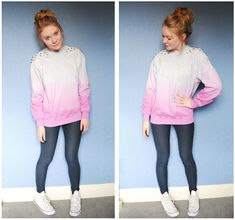 """A pink ombre """"sweater"""" 