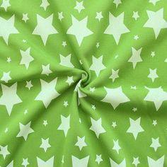 Sweatshirt Baumwollstoff angeraut Artikel Jogging  Sterne Mix   Farbe Lind-Grün