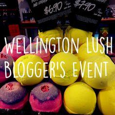 Wellington Lush Blogger's Event