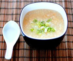 Vegetable Congee (Rice Porridge) - A comforting dish, similar to the Japanese Zosui and Okayu, congee is normally simmered for a long period of time, until the dish has a creamy sticky texture. One of my Chinese students mentioned his family made it more often with the consistency of soup than porridge.  Get this recipe by clicking on the link below: http://ow.ly/kiBJ301pg7h