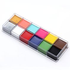 CCBeauty Professional Face Paint Oil 12Colors Painting Art Party Fancy Make Up Set,#1