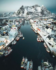 Henningsver, Norway, spectacular fishing village