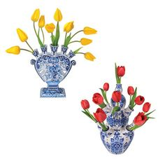 Flat Flowers Window Stickers / Delft. Now featured on Fab.