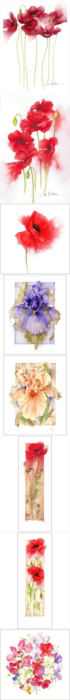 ideas flower art work watercolour for 2019 Painting & Drawing, Silk Painting, Watercolor Cards, Watercolor Flowers, Drawing Flowers, Illustration Blume, Art Tutorials, Flower Art, Art Drawings