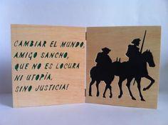 El quijote y sancho cuadro / tipo libro decoración