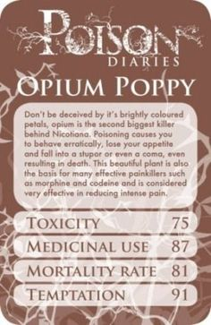 If you're looking for a poison your antagonist could use in your next crime novel, have a look at these. We found them on The Poison Diaries on Pinterest.                                          ... Writers Write, Poisons, Writing Inspiration, Novels, The Cure, Journal, Herbs, Witches Cauldron, Herbalism