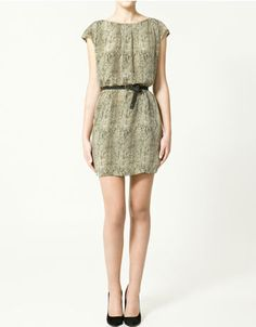 Zara dress ... would love this with tights and a blazer for fall :)