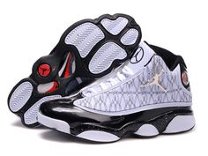 Desirable Air Jordan Retro 13 In White Black Embroidery Basketball Men Shoes Inexpensive | Air Jordan