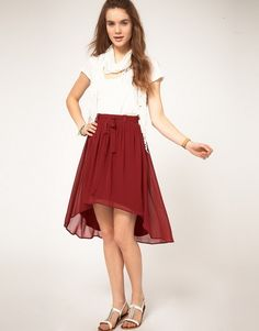 Discover the latest skirts with ASOS. Shop a variety of styles including denim and leather skirts, plus midi and maxi lengths. Order now with ASOS. High Low Skirt, High Waisted Skirt, Stylish Eve, Work Fashion, Well Dressed, What To Wear, Midi Skirt, My Style, Skirts