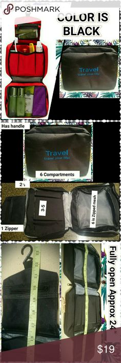 WASHABLE TRAVEL MUST HAVE BAG I searched this for Me.   Do you travel?   Do you hate packing. PACK ONCE REFILL AS NEEDED AND EVEN BETTER DON'T WORRY ABOUT THE HOTEL CABINET, THIS DOUBLES AS A PORTABLE CABINET JUST HOOK IT. I am Soooo Excited @dressyu  Bags Travel Bags