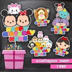 Big SET 15 Tsum Tsum centerpieces Tsum Tsum by perimpepka on Etsy
