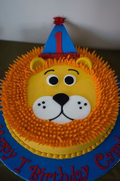Cake from a Party Animal 1st Birthday Party via Karas Party Ideas