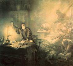 Mihaly Zichy Luther's vision.1871 Bedroom Scene, Centaur, Dark Fantasy, Erotic, Romantic, Drawings, Artwork, Moonlight Painting, Inspiration