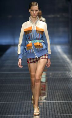 without the belt, right...( without the shorts)Prada | Ready-to-Wear Spring 2017 | Look 25