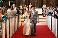 View a yellow and gray wedding at Harvard Memorial Church and MIT by Nicole Chan Photography