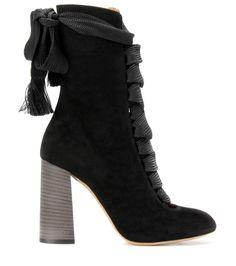 Harper black suede boots