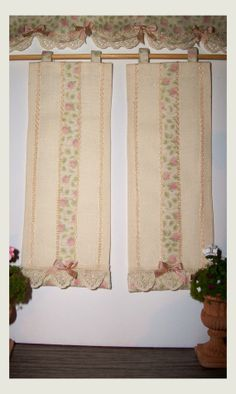 Tendine a pannello country in cotone leggero di MiniatureFashion, €30.00