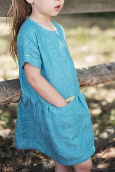 Beautiful Handmade Linen Dress | TsiomikKids on Etsy