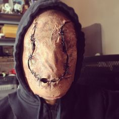 Home made Silent Hill: Revelation inspired mask made from a t-shirt stretched over a cheap plastic mask, then cut, stitched, and painted. http://www.facebook.com/LarryHigbeeCreations