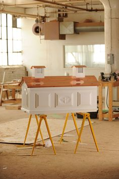 bee hive for urban beekeeping | handcrafted by Timothy Riffle at Hive & Coop