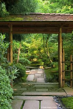 Image detail for -Bamboo gate to garden