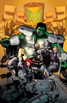 Secret Avengers 5 cover by Tomm Coker