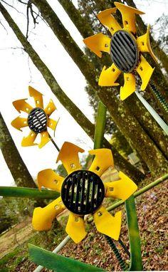 Sunflowers - Wade Wharton Sculpture Trail at the Huntsville Botanical Garden Outdoor Crafts, Dyi Crafts, Outdoor Art, Metal Crafts, Garden Crafts, Garden Art, Welding Crafts, Welding Ideas, Welding Art