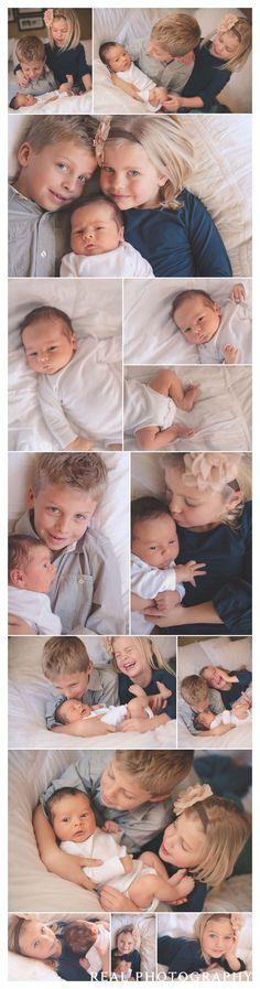 lifestyle newborn baby portrait session sibling posing ideas