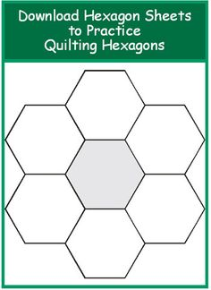 Excellent article on quilting hexagons. Has templates for experimenting. How to Quilt Hexagons /Geta's Quilting Studio Quilting Templates, Quilting Projects, Quilting Designs, Hexagon Quilt Pattern, Quilt Block Patterns, Patchwork Quilt, Paper Piecing Patterns, English Paper Piecing, Quilt Tutorials