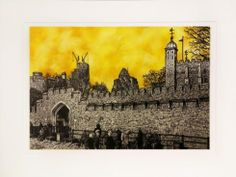"""""""Tower of London Gold"""" by Jonnie Temple Original  The Royal Gallery www.theroyalgallery.co.uk/index.php?location=item&item=1730&art=Originals&source=2"""