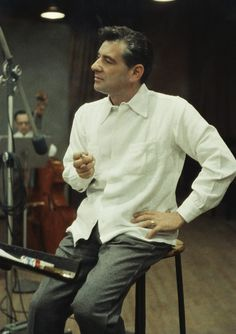 Conductor Leonard Bernstein During Recording Session Leonard Bernstein, Magnum Opus, Jazz Musicians, Chant, Conductors, Classical Music, Orchestra, American History, Personality
