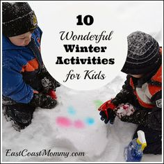 10 Wonderful Winter Activities for Kids