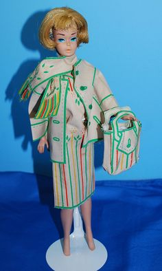 Barbie Sew Free Fashion.  I had a pink outfit with this stuff...I think it had glue that you ironed and it sealed pieces together! Cool to see another one