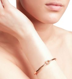 Roulette Flip Rose Gold and Diamond Bangle | Boodles