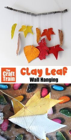Easy clay leaf mobile wall hanging kids can make using air dry clay at home. This is a fun and easy nature craft for kids, and is perfect for Fall or Autumn crafting #wallhanging #kidscrafts #fall #autumn #autumncrafts #naturecrafts #leafcrafts #airdryclay #thecrafttrain #clayleaves #funkidscrafts #craftsforkids Kindergarten Crafts, Preschool Crafts, Fun Crafts, Paper Crafts, Autumn Crafts, Fall Crafts For Kids, Nature Crafts, Autumn Activities, Activities For Kids