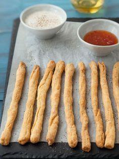 Recette de Bâtonnets de fromage croustillants (breadsticks au fromage)