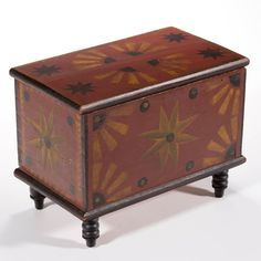 Outstanding Stirewalt family (New Market, Shenandoah Co. Blanket Chest, Blanket Box, American Paint, Shenandoah Valley, Painted Boxes, Hand Painted, Antique Boxes, Country Furniture, New Market