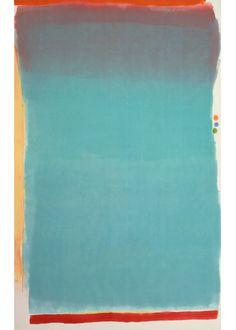 "Jules Olitski  Tin Lizzie Green, 1964  Alkyd and oil/wax crayon on canvas, 130 x 82"""
