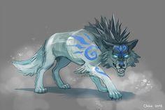 Ice Wolf by Okha.deviantart.com on @DeviantArt